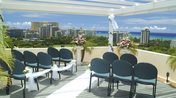 Doubletree Waikiki - Beautiful Small Wedding Ceremony view of beach and ocean