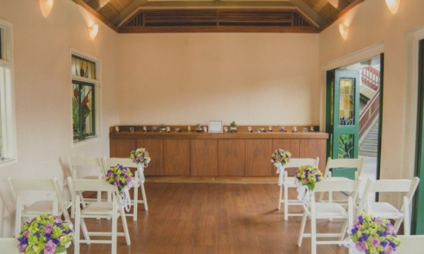 Small indoor wedding venue at the Willows Restaurant