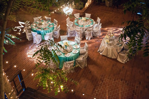 Small wedding reception at Courtyard D Oro in Sacramento, California
