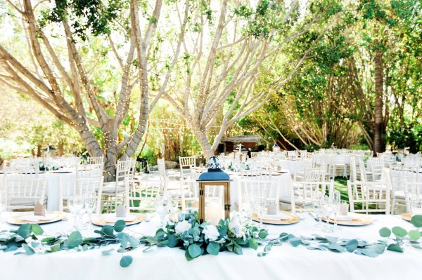 Elegant outdoor wedding reception San Diego