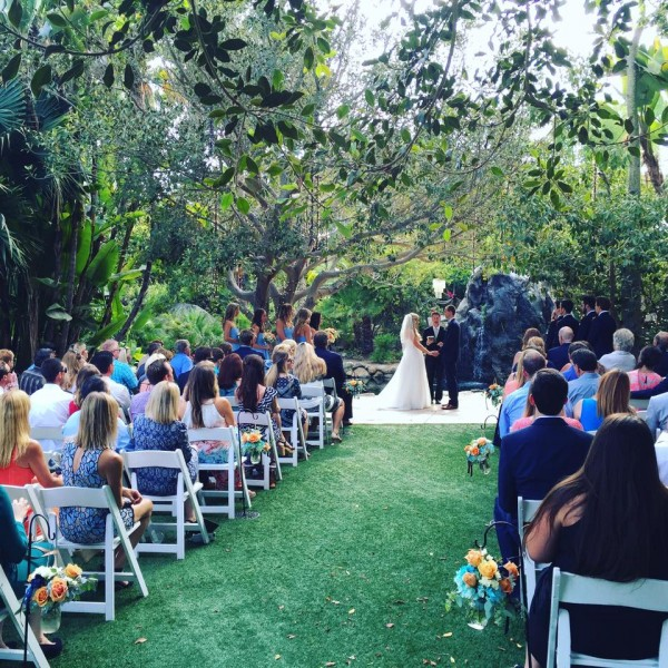 Wedding Ceremony at Paradise Falls in San Diego