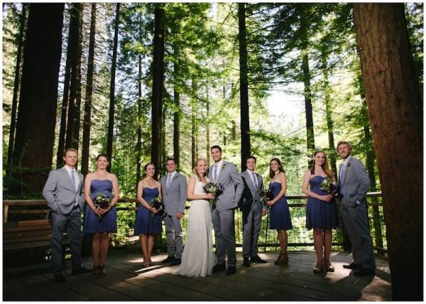 Small wedding party at Hoyt Arboretum in Portland