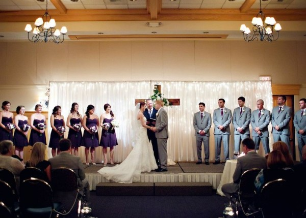 Intimate Rustic Wedding ceremony at Heathman Lodge
