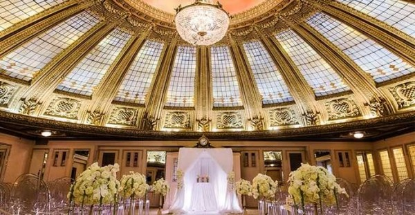 Astounding dome and wedding ceremony at the Arctic Club in Seattle