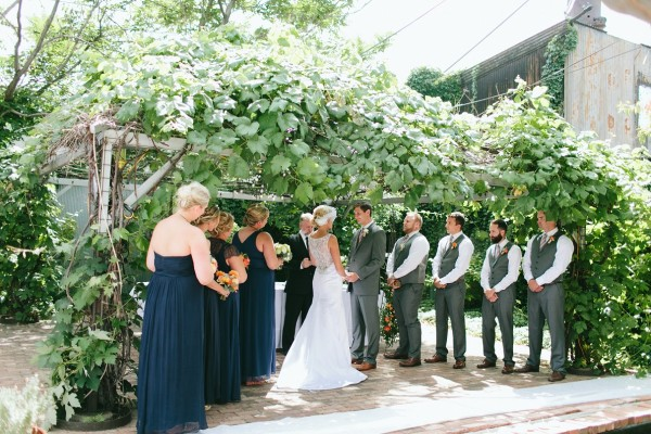 Ivy arbor for wedding ceremony at Blanc in Denver
