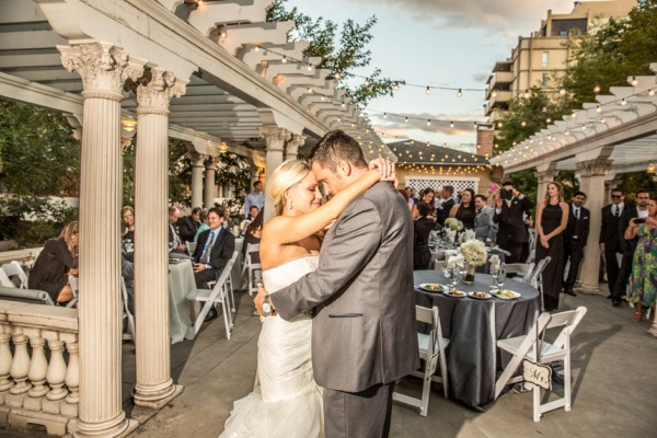 Newly weds dance at Grant-Humphreys Mansion wedding reception