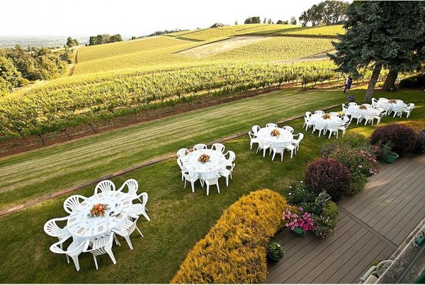 Small wedding reception setup - Wine Country Farm