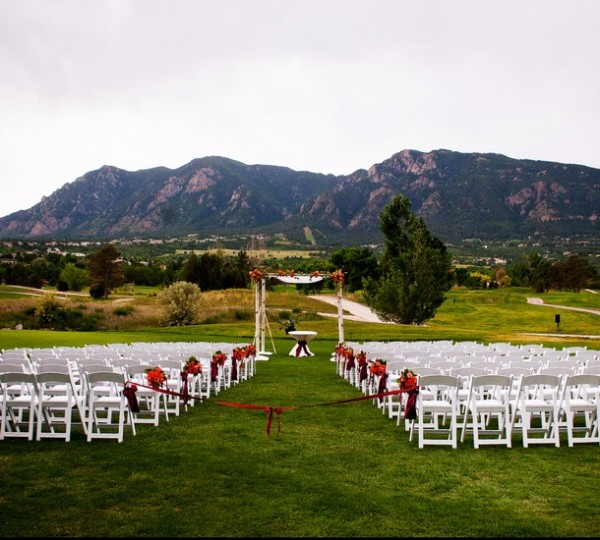 Small Wedding Ceremony Venue on Golf Course at Cheyenne Mountain Resort