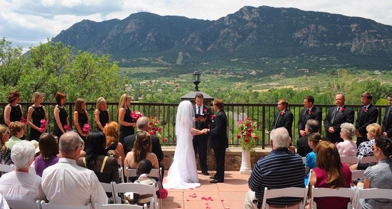 Small Wedding Ceremony Venue on Terrace at Cheyenne Mountain Resort - Colorado Springs