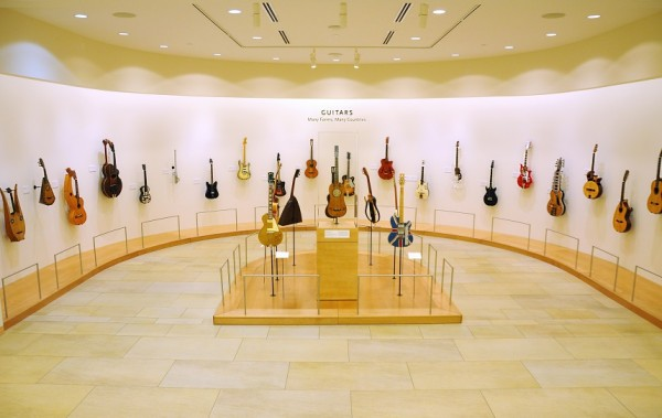 Guitar display at the Musical Instrument Museum
