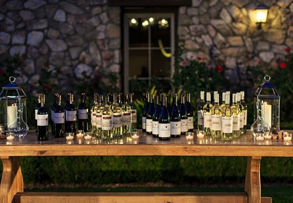 Sonoma Valley wine at a small Sonoma wedding
