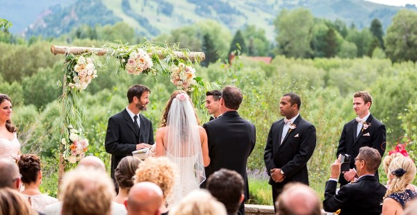 Wedding Ceremony at Aspen Meadows Resort in Colorado