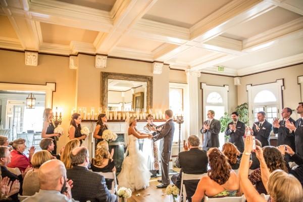 Inside Wedding Ceremony Grant Humphreys Mansion